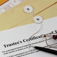 Trustee's certificate