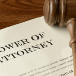 A document that reads power of attorney