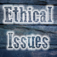 Ethical issues sign