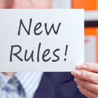 "Sign that reads ""New Rules!"""