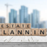 estate planning with tiles against building background