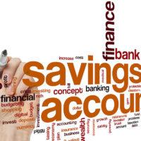 Savings account word cloud