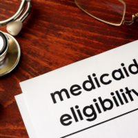 medicaid eligibility document with stethoscope