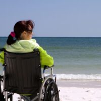 Woman Disability Beach